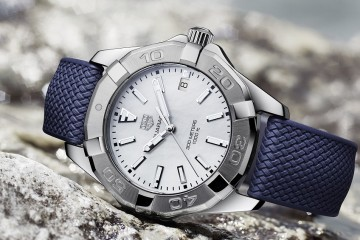 Aquaracer - white dial and blue strap_lifestyle