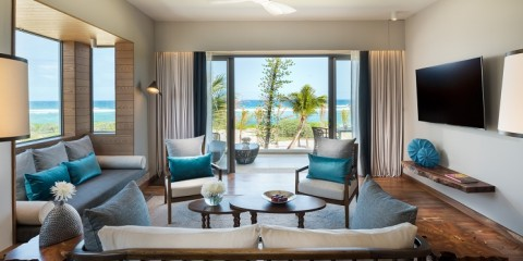 Anantara Iko Mauritius Resort - Ocean View Suite Living Room low res