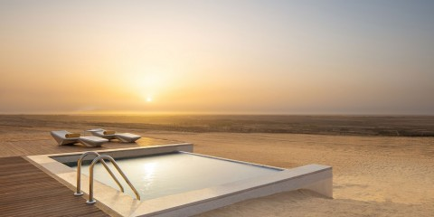 Anantara Tozeur - One Bedroom Pool Villa - Pool with view over Chott el Djerid low res