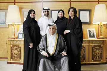 A few members of the Al Gurg family – Dr Raja Al Gurg, Managing Director; Abdulla Al Gurg, Group CEO; Maryam Al Gurg, Director and Muna Al Gurg, Director of Retail with the Chairman