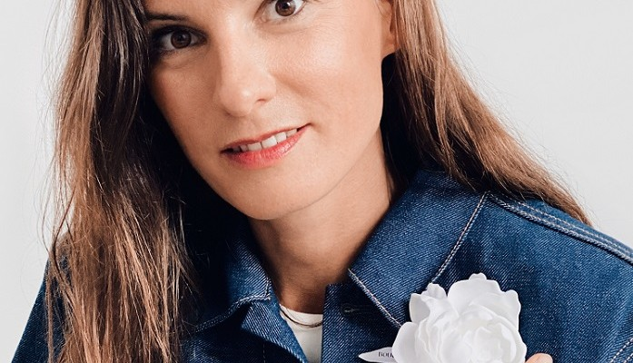 Boucheron - Claire Choisne wearing peony brooch-ccc
