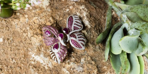 Fehmida Lakhany x Gemfields x WFG, Butterfly Earrings