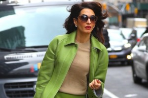 *EXCLUSIVE* Amal Clooney means business in NYC!