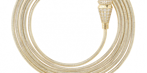 Jack de Boucheron 6 wraps full-paved with diamonds, on yellow gold