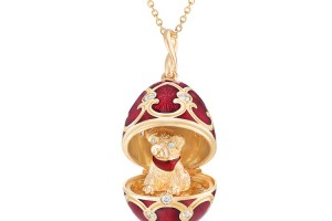 173FP2074 Fabergé Palais Tsarskoye Selo Red Dog Locket