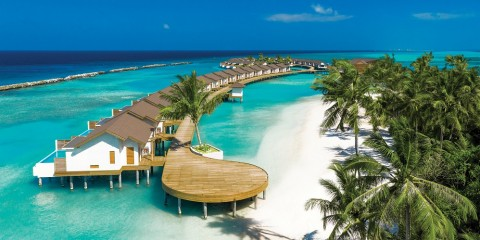 ATMOSPHERE KANIFUSHI MALDIVES - AERIAL VIEW - WATER VILLA JETTY 01
