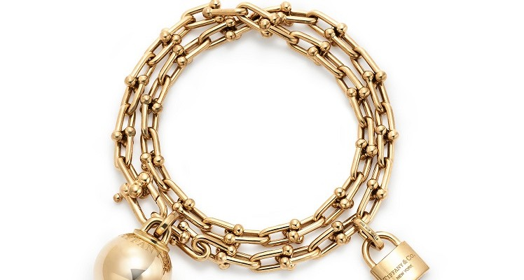Tiffany HardWear chain wrap bracelet in 18k yellow gold